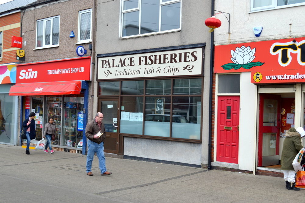 PALACE FISHERIES 23 COLE STREET SCUNTHORPE NORTH LINCOLNSHIRE,
