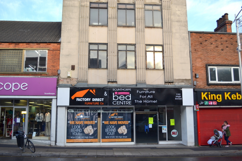 SALE AGREED 152-154 HIGH STREET SCUNTHORPE NORTH LINCOLNSHIRE,